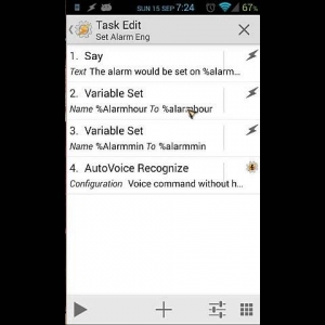 Tasker tutorial: Create alarmclock with Autovoice and chaincommands (confirmation) - YouTube