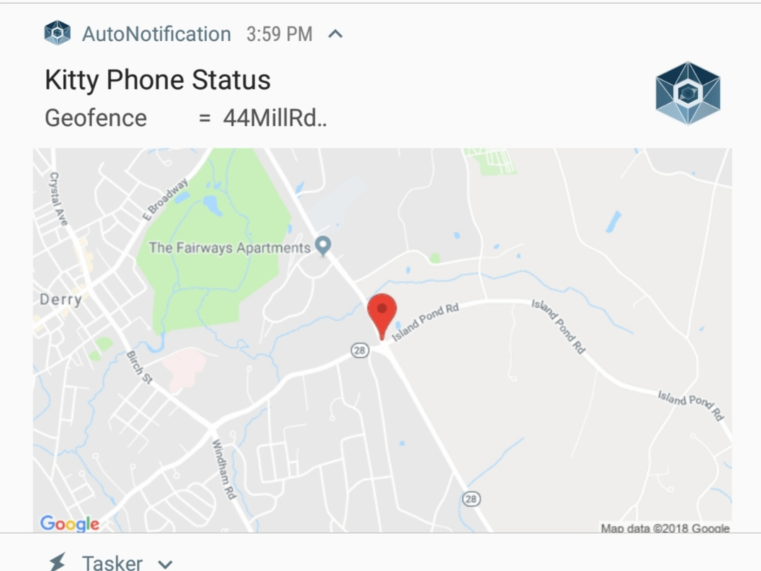 Autonotification with Autolocation Google Static Map URL